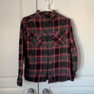Fission red and black plaid flannel